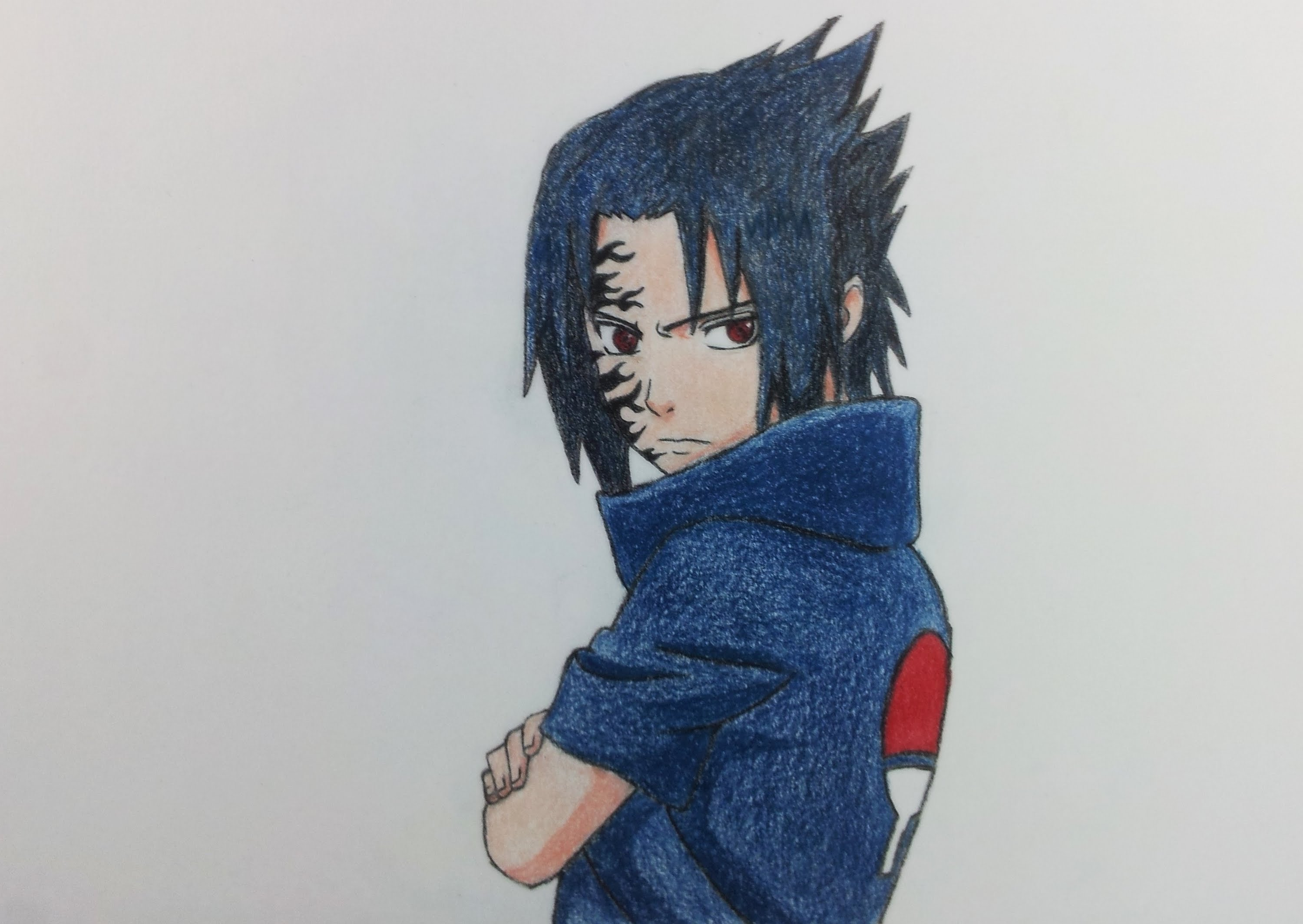 3000x2127 How To Draw Sasuke 3d Pencil Drawing Sasuke Uchiha