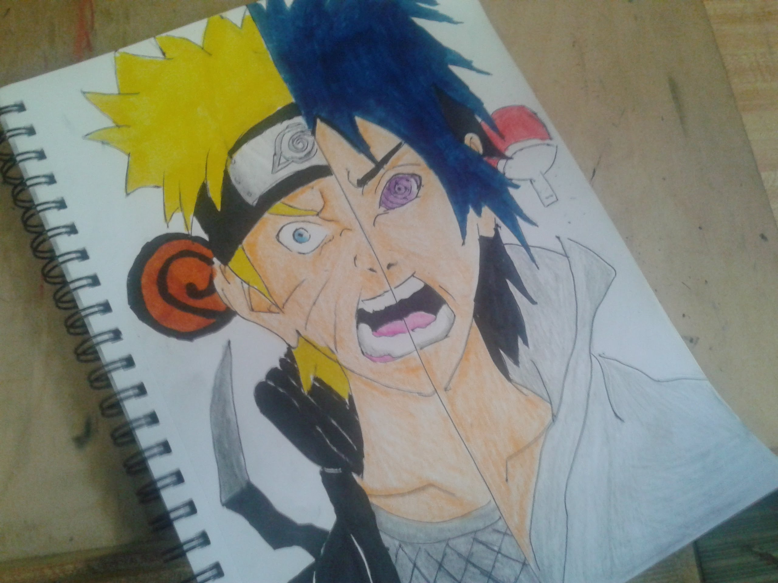 2560x1920 Naruto Uzumaki And Sasuke Uchiha Speed Drawing