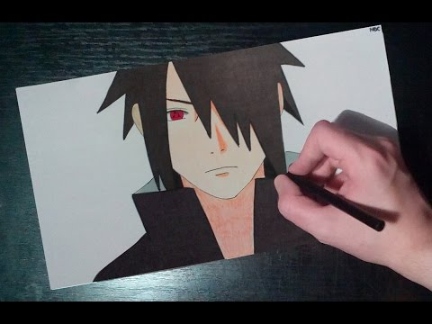 480x360 Speed Drawing Sasuke Uchiha From Naruto Shippuden Episode 487
