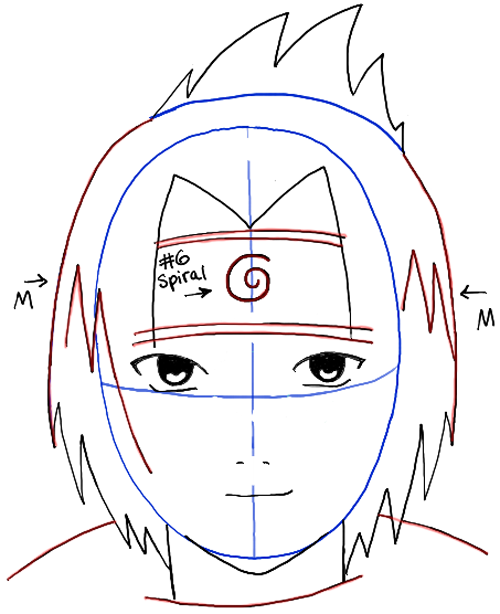 500x614 How To Draw Sasuke Uchiha From Naruto Step By Step Drawing