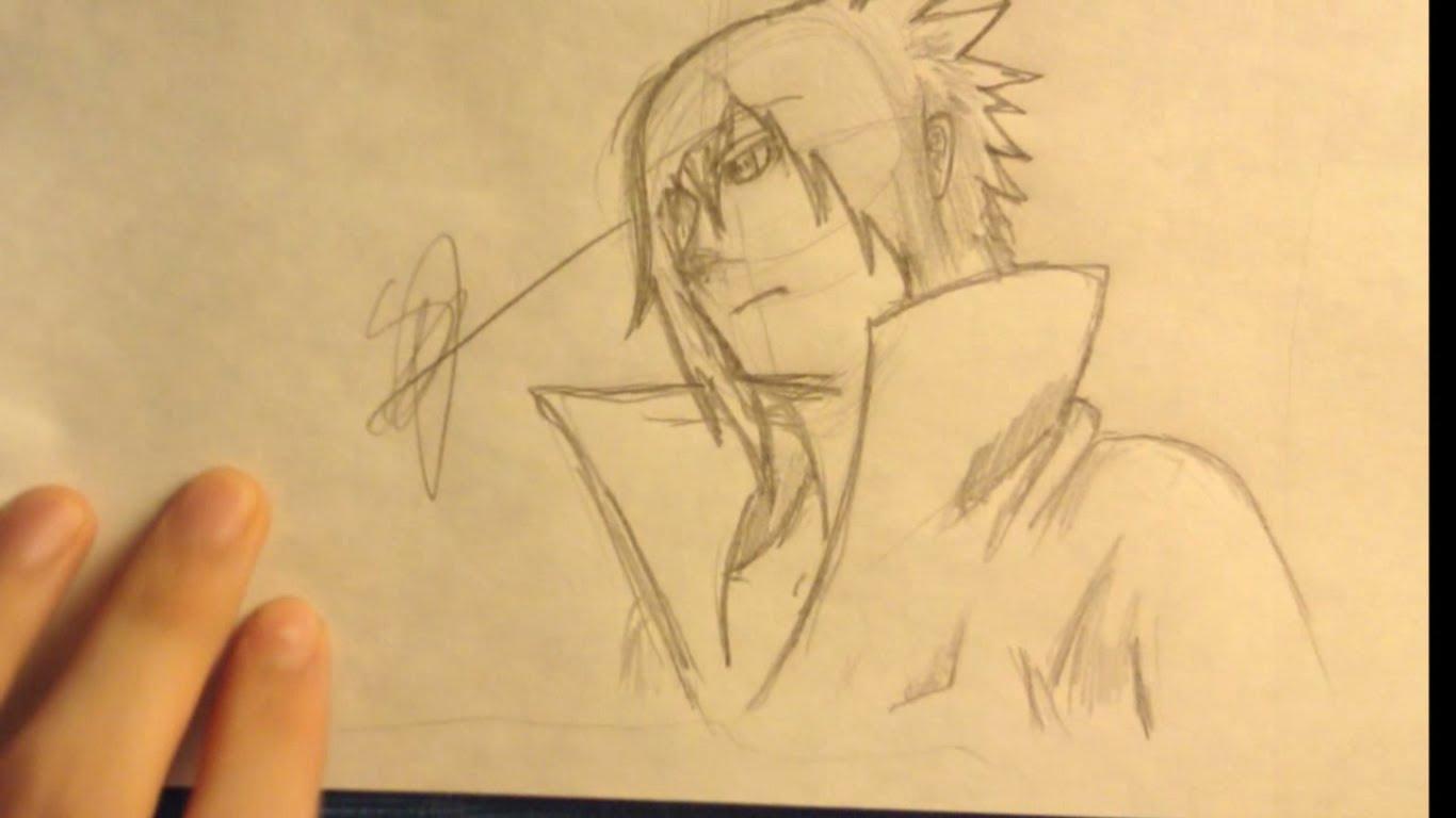1366x768 How To Draw Sasuke Uchiha (Easy)