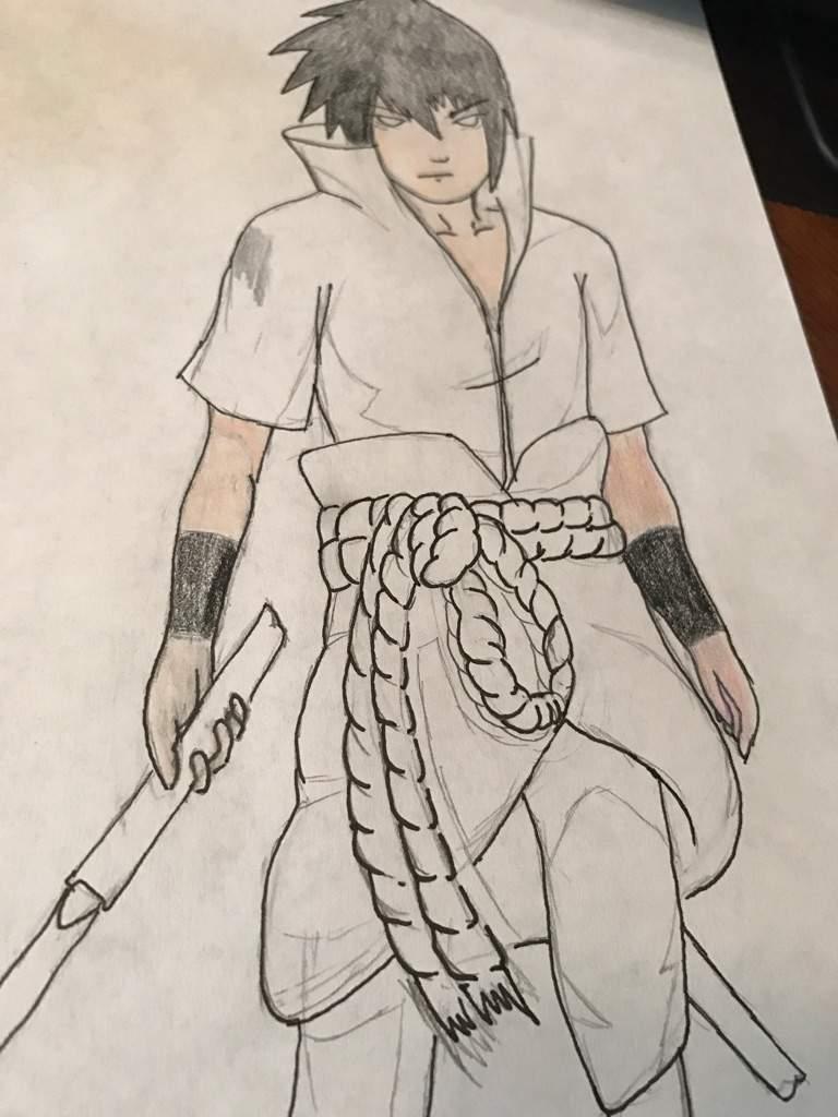768x1024 Sasuke Uchiha Drawing Tutorial Anime Amino