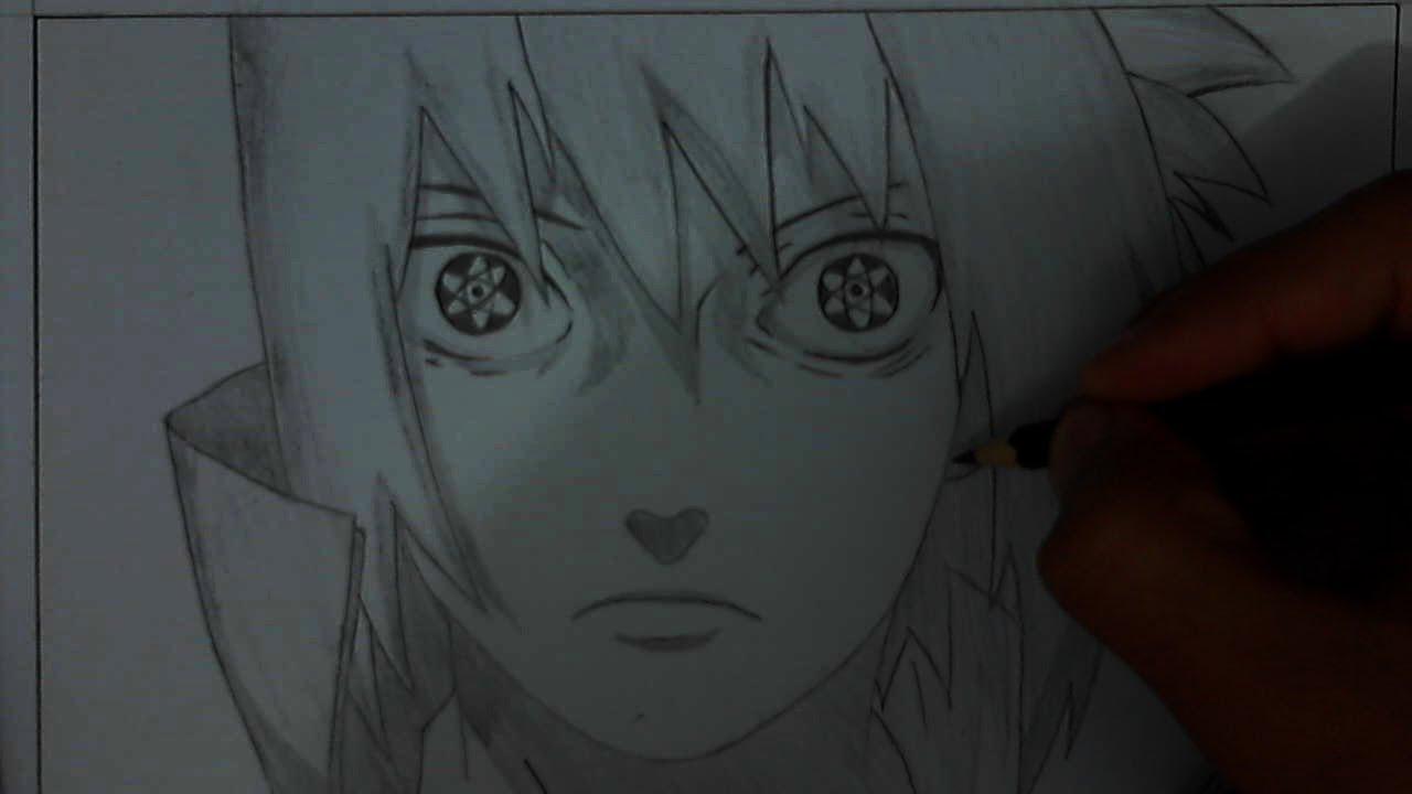 1280x720 Tutorial How To Draw Sasuke Uchiha Mangekyou Sharingan [Remake