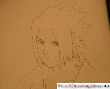 350x285 How To Draw Sasuke Uchiha Step By Step. Sketch Pencil Idea