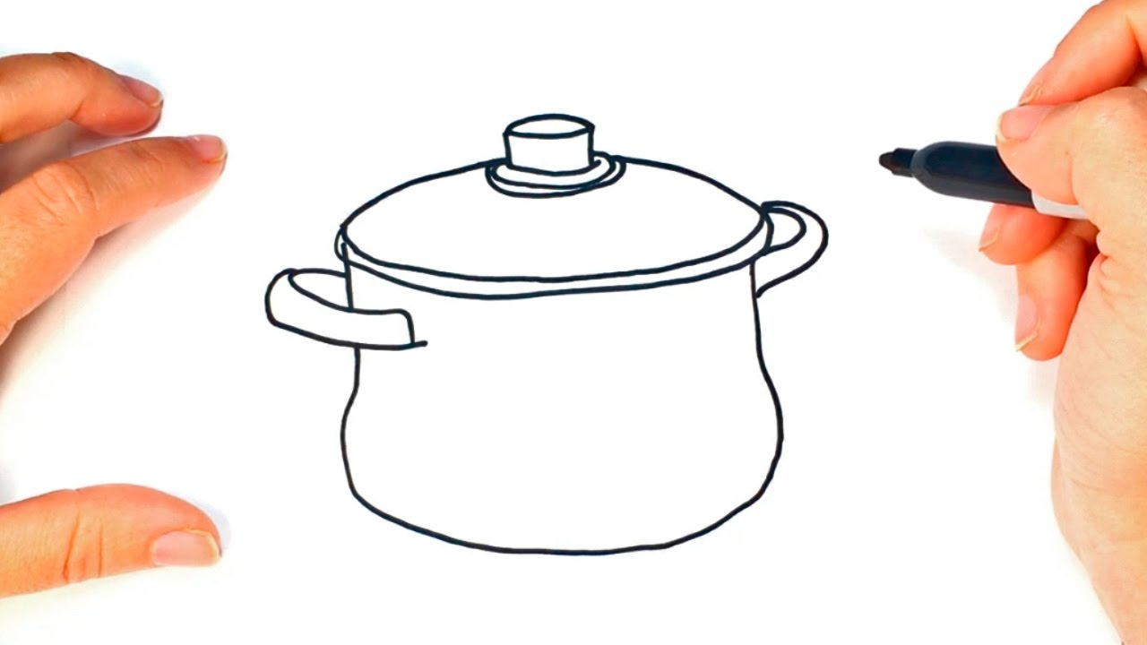 1280x720 How To Draw A Pot Cooking Pot Easy Draw Tutorial