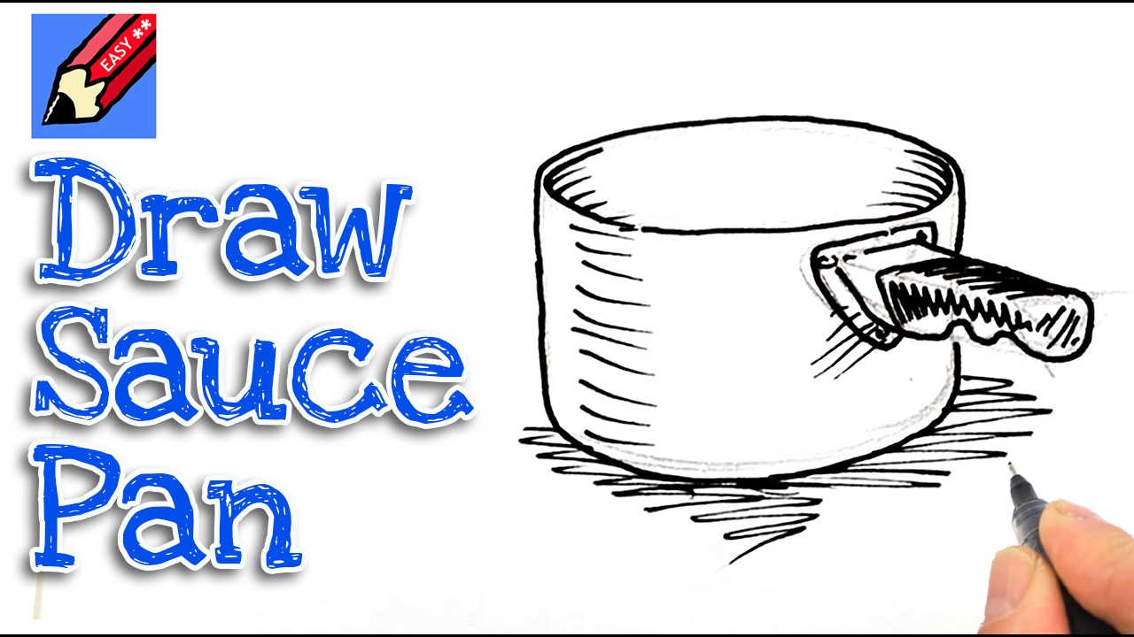 1280x720 Learn How To Draw A Saucepan Real Easy For Kids And Beginners