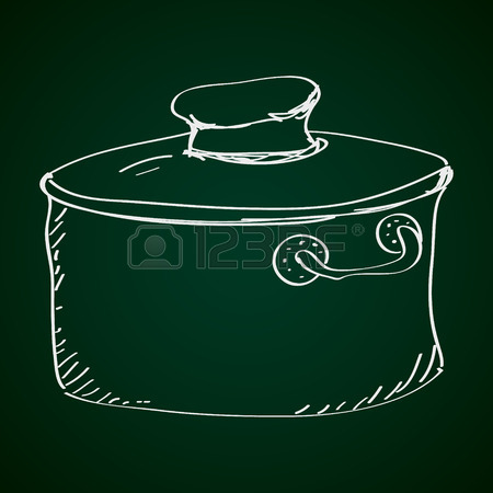 450x450 Simple Hand Drawn Doodle Of A Saucepan Royalty Free Cliparts