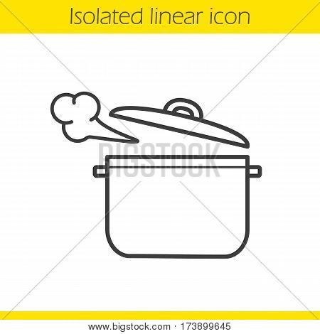 450x470 Steaming Pot Linear Icon. Vector Amp Photo Bigstock