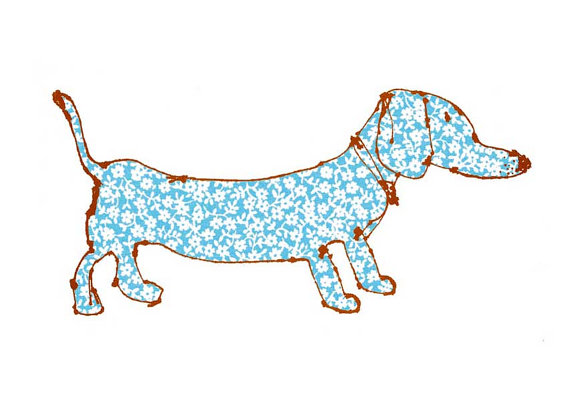 570x404 Dachshund Print Dog Wall Art Cute Dog Drawing Sausage Dog