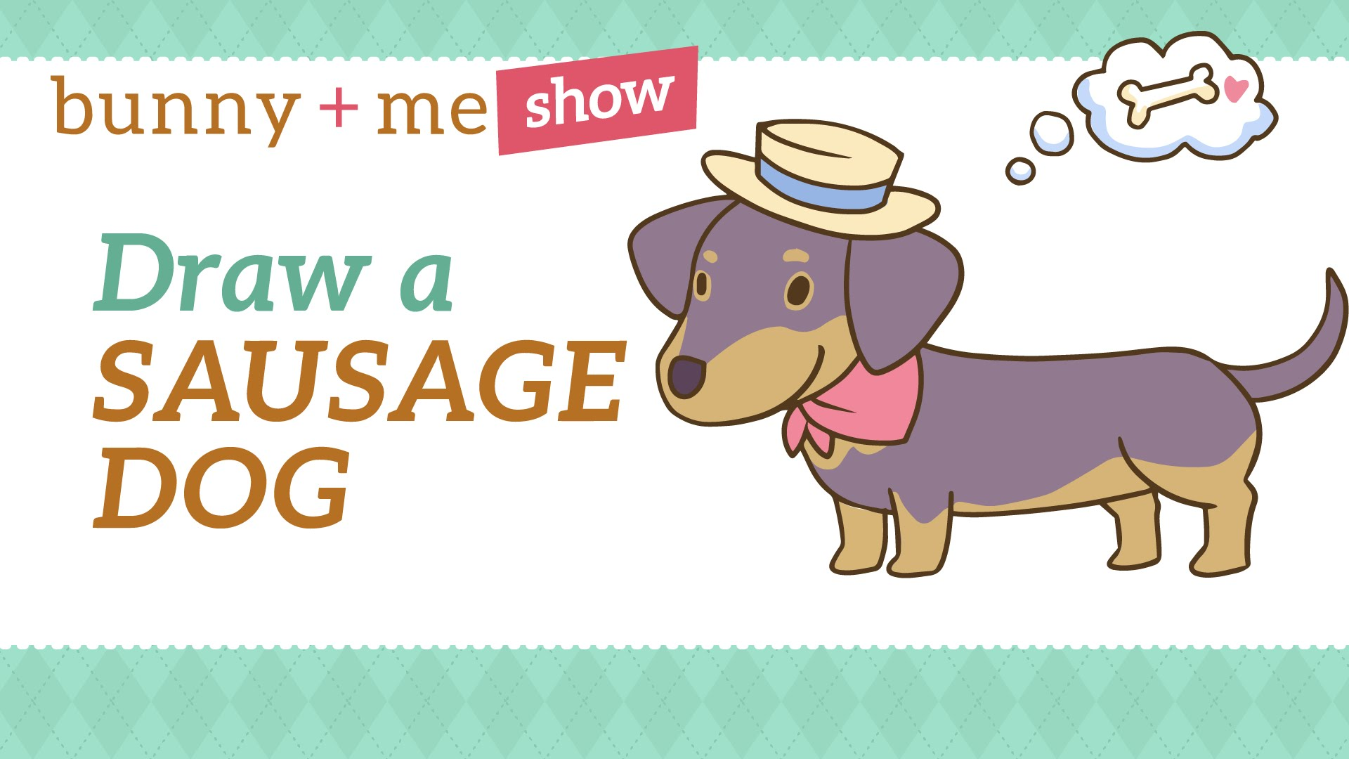 1920x1080 How To Draw A Cute Sausage Dog
