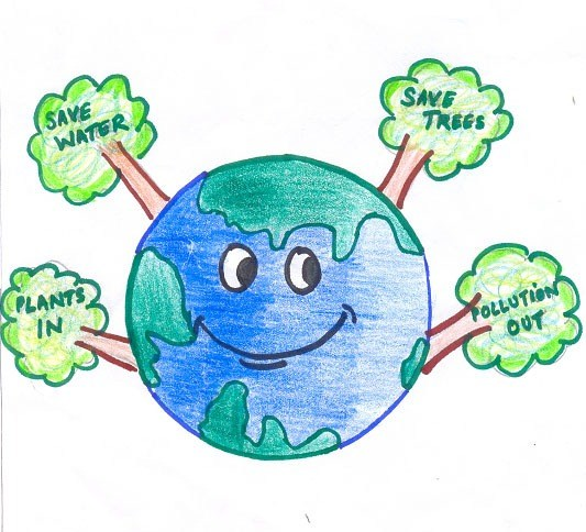 533x484 Save Trees Drawing By Mehul