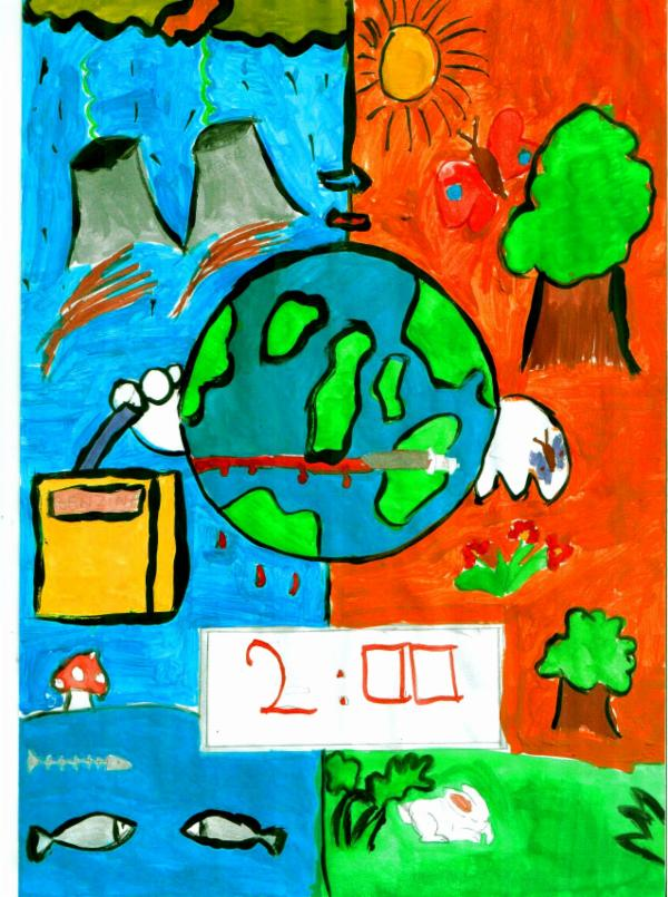 600x805 Art For Peace Contest Two Minutes To Save Earth