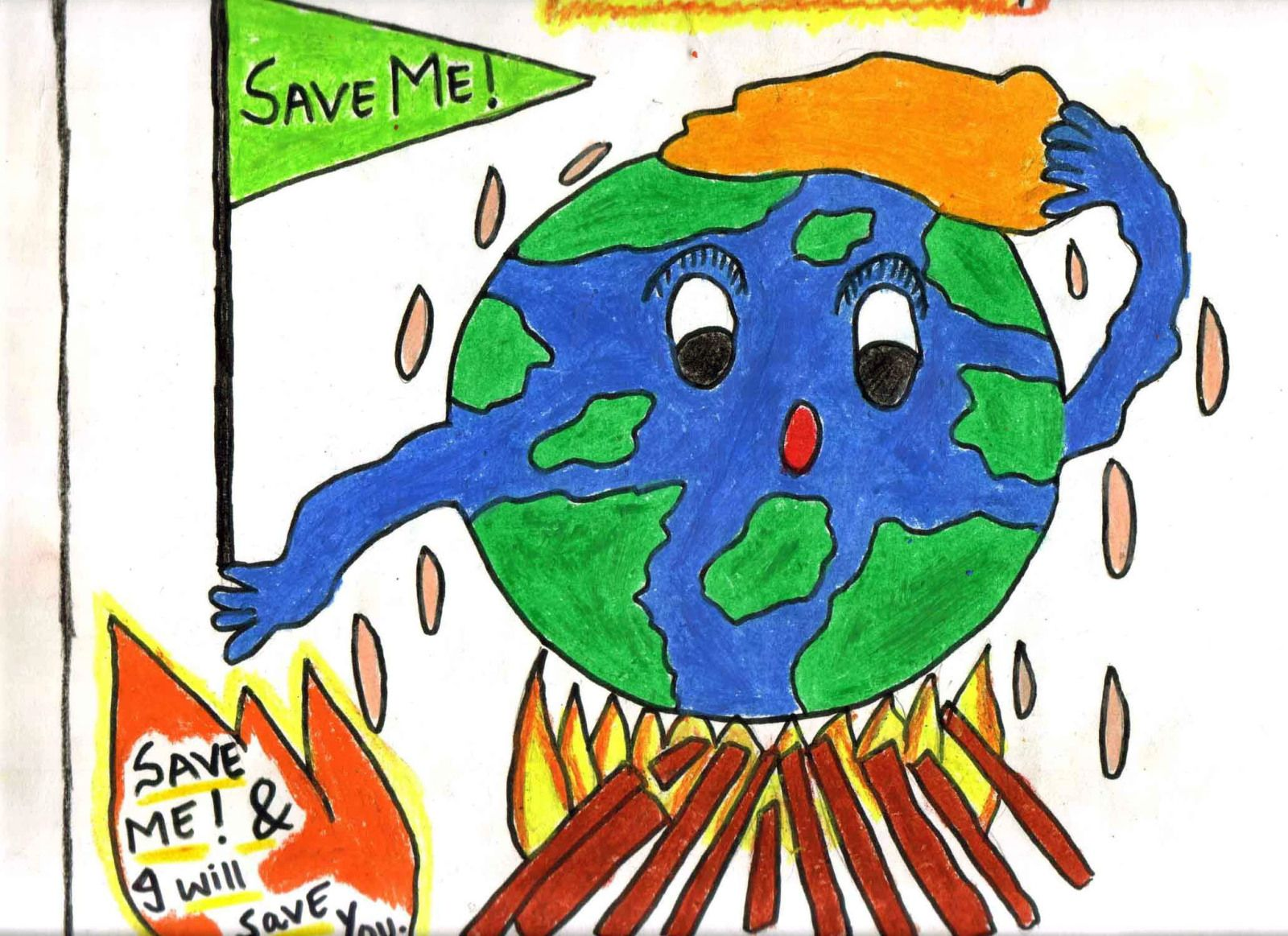 Save Earth Drawing Pictures at GetDrawings.com | Free for personal ...