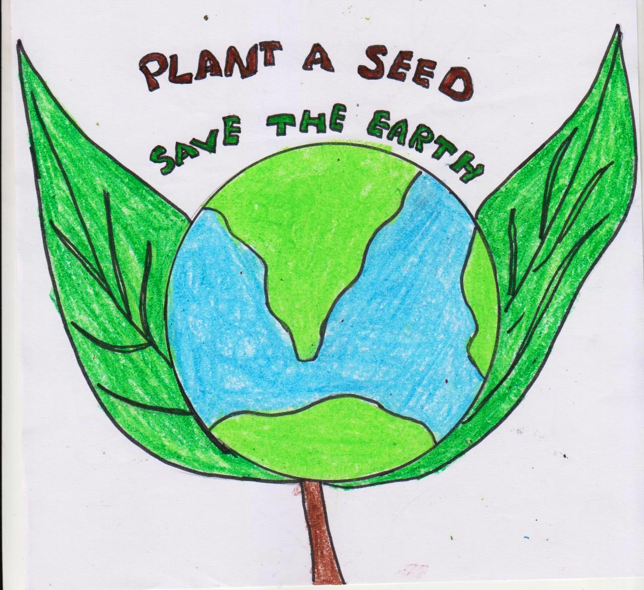 1275x1168 Earth Day Celebration Drawing Contest G.dharshana