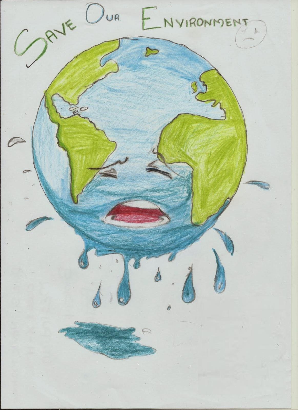 1163x1600 Save Earth Drawing