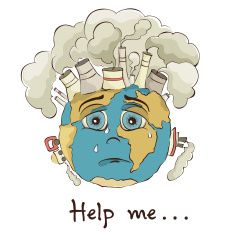 235x235 Save The Planet Earth Illustration Poster Creative Articals