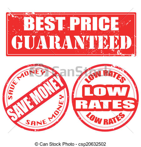 450x470 Best Price Guaranteed , Save Money , Low Rates Stamp. Best