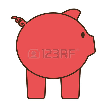 450x450 Drawing Pink Piggy Save Money Bank Vector Illustration Eps 10