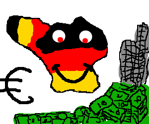 300x250 Germany And Belgium Become One To Save Money (Drawing By Craig23254)