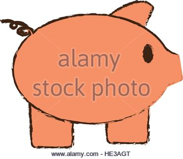 369x320 Drawing Save Box Money Cash Bills Stock Vector Art Amp Illustration