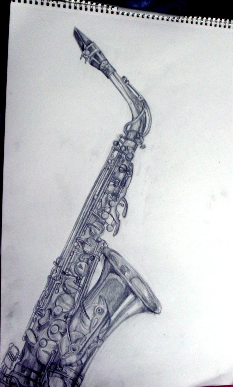 811x1348 Alto Saxophone By Elizabethpicardi