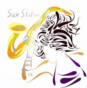 297x300 New Alto Sax Drawing