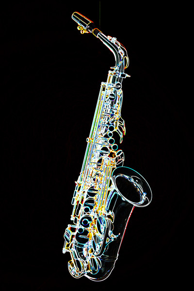 400x600 Saxophone Fine Art Dark Drawings