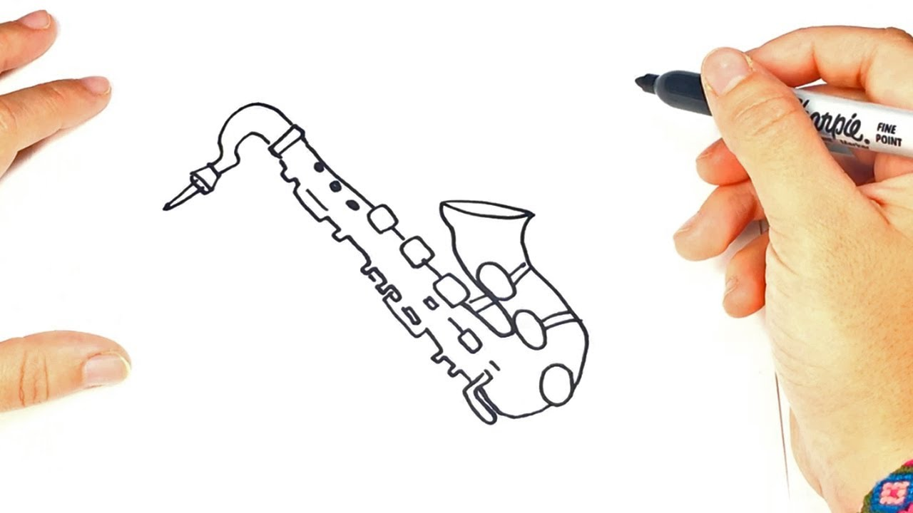 1280x720 How To Draw A Saxophone Saxophone Easy Draw Tutorial