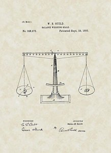 218x300 Scales Of Justice Patent Art Drawing By Patentsasart