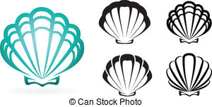 300x152 Scallop Shell Vector Clip Art Eps Images. 1,823 Scallop Shell