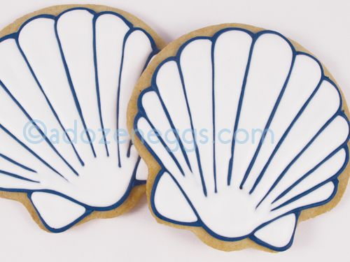 500x375 Simple Scallop Shell Outline