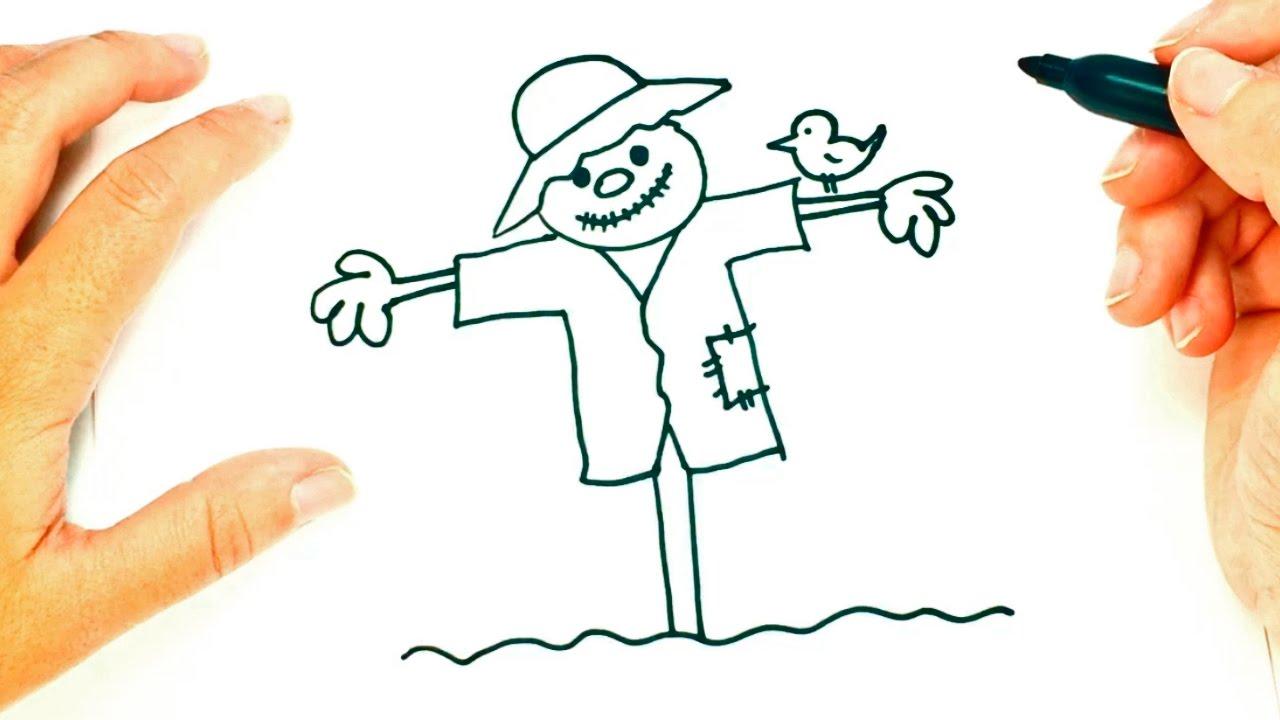 1280x720 How To Draw A Scarecrow Scarecrow Easy Draw Tutorial