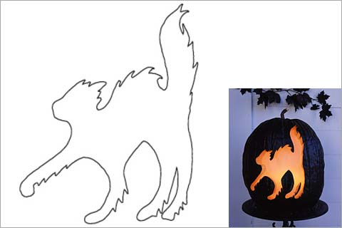 480x320 44 Spooky Cat Pumpkin Stencils You'Ll Love Carving This Halloween