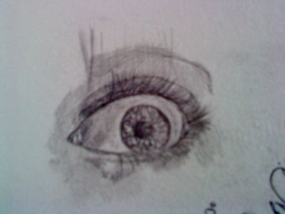 400x300 A Sketch Of A Eye Of A Very Scared Girl. By Sergiomelim
