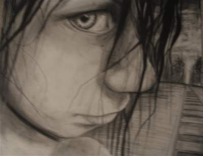 400x307 Building Teen Charcoal About Building, Girl, Sad, Scared, Alone