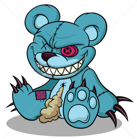 437x443 Drawn Teddy Bear Creepy
