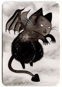 236x330 Daily Scary Cat Drawings During October. Personajes