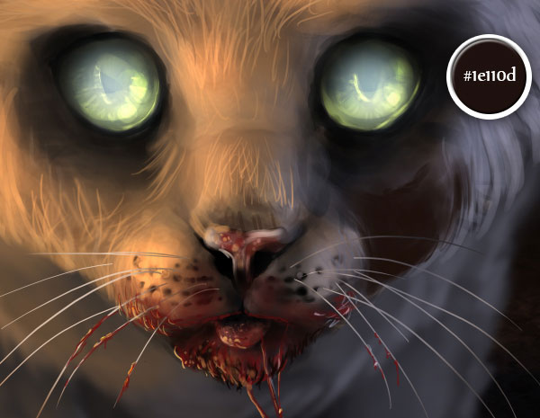 600x465 Digital Painting Lesson Paint A Scary Zombie Cat Using Photo