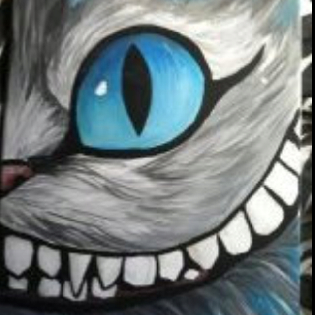 640x640 Scary Cheshire Cat Up Close
