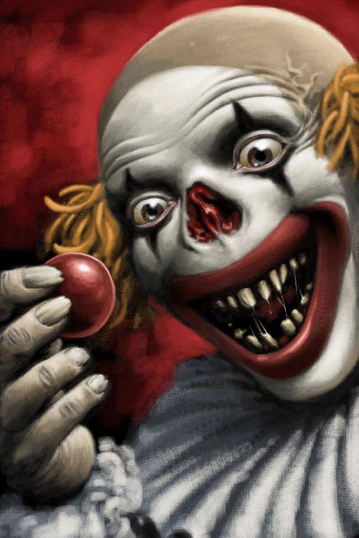 736x1104 Creepy Clown Drawing Best Scary Clown Drawing Ideas