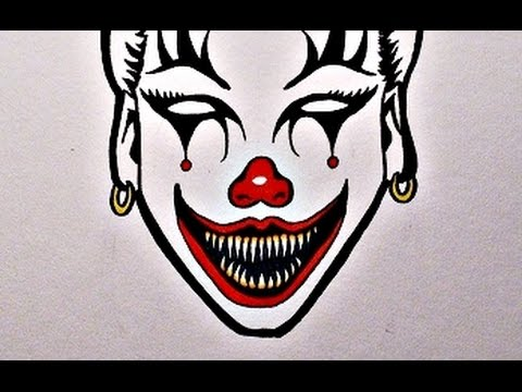 480x360 How To Draw An Evil Clown Girl