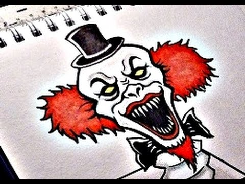 480x360 How To Draw An Evil Clown Viii