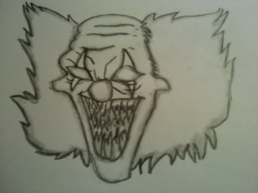 900x675 Scary Clown Drawing By Hardcorejake
