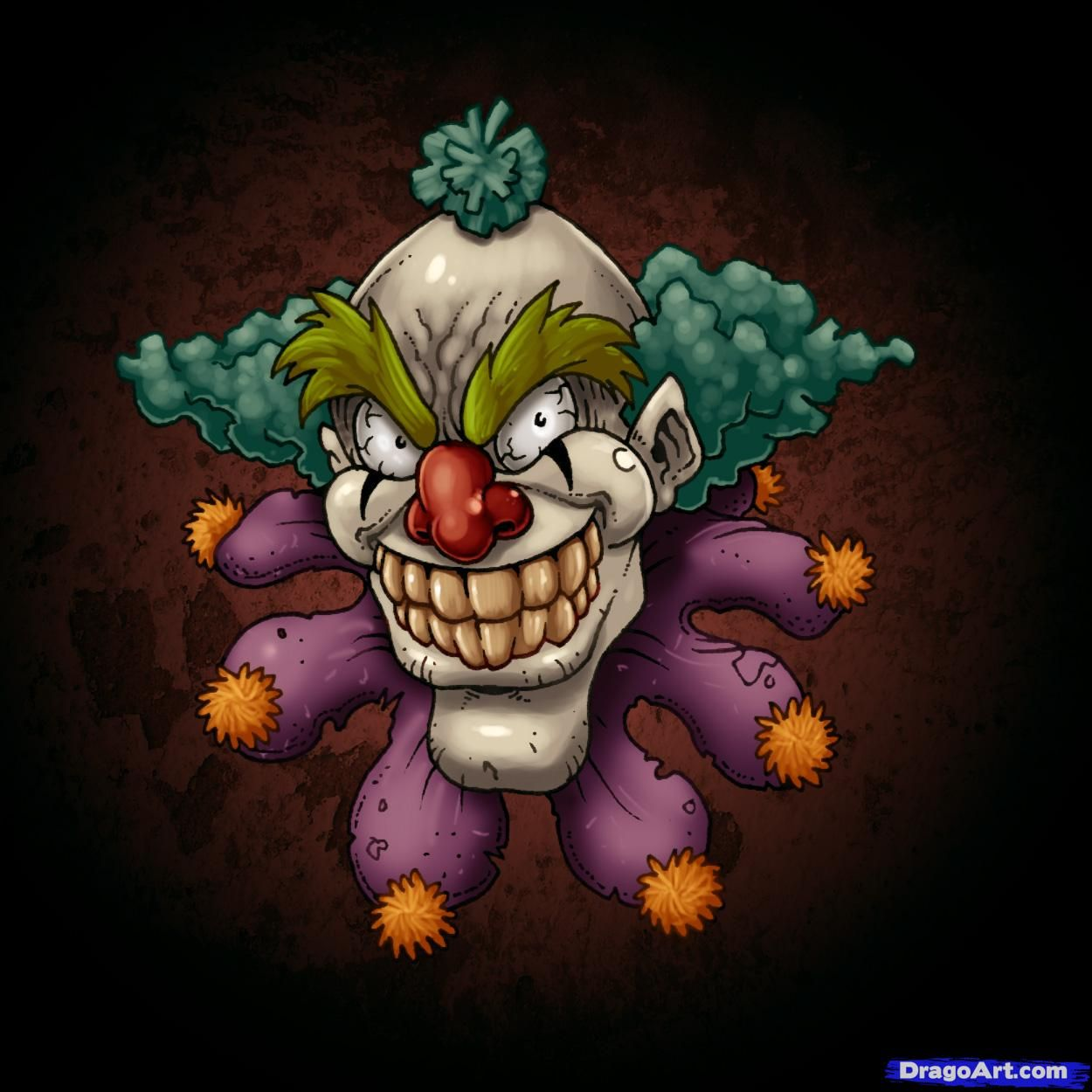 1250x1250 Clowns That Are Scary Evil Clown Inside Taco Bus Xpx Scary