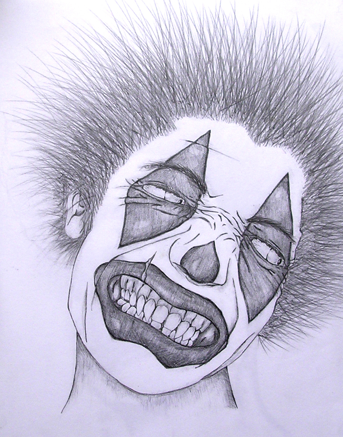 scary clown face drawing at getdrawings com free for personal use