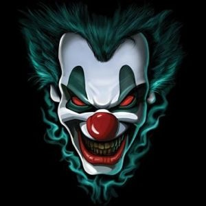 300x300 Freak Show Evil Clown Face T Shirt All Sizes Amp Colors (3018