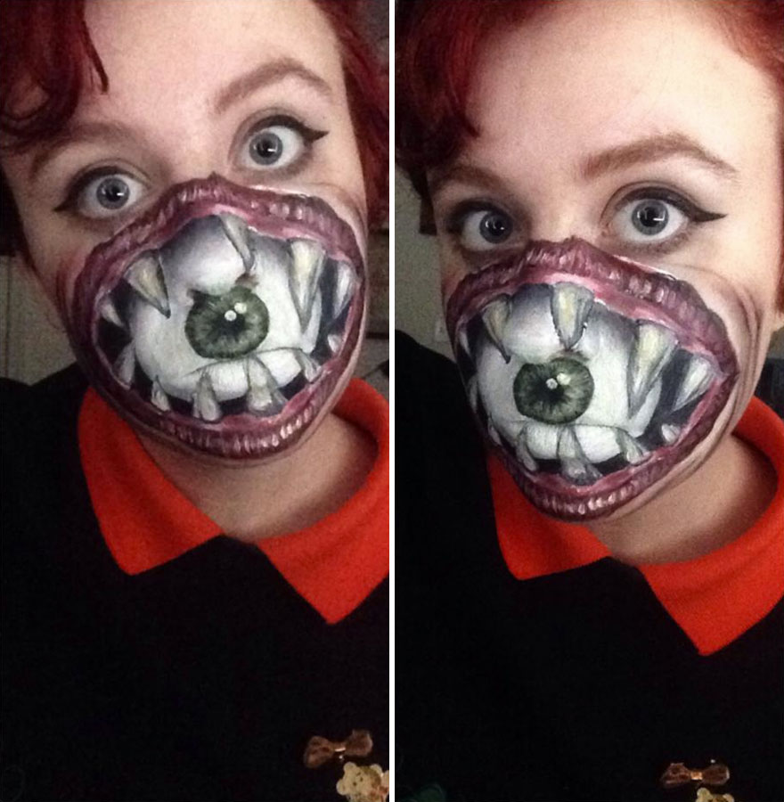 880x900 i use face paint to turn myself into dark or strange characters