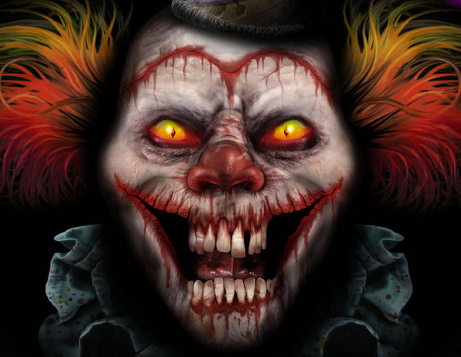 900x697 Scary Clowns Digital Drawing 50 Scary Clowns That Will Haunt