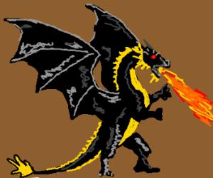 300x250 Evil Scary Black Dragon