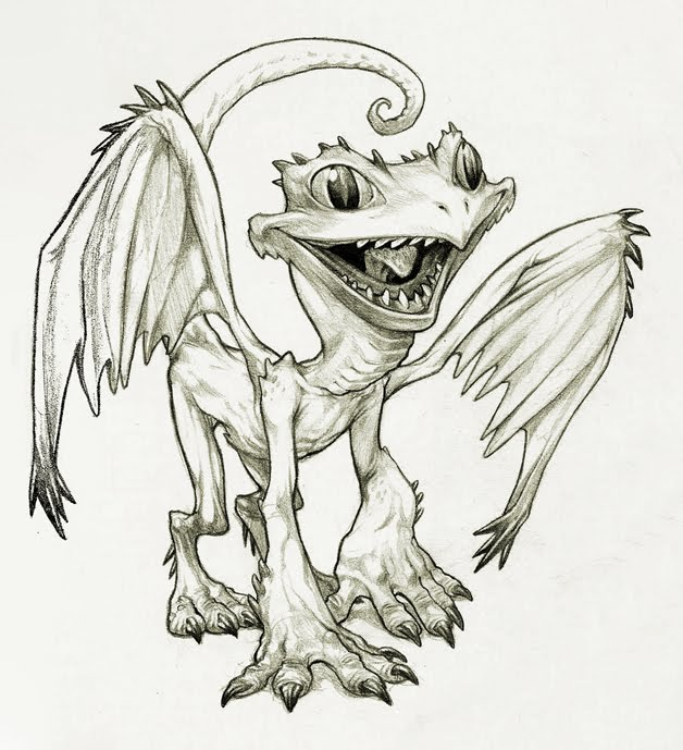 628x689 Tyler Parkinson's Blog For Drawing And Stuff Little Dragon D
